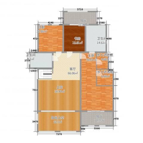大美城3室1厅2卫0厨216.37㎡户型图