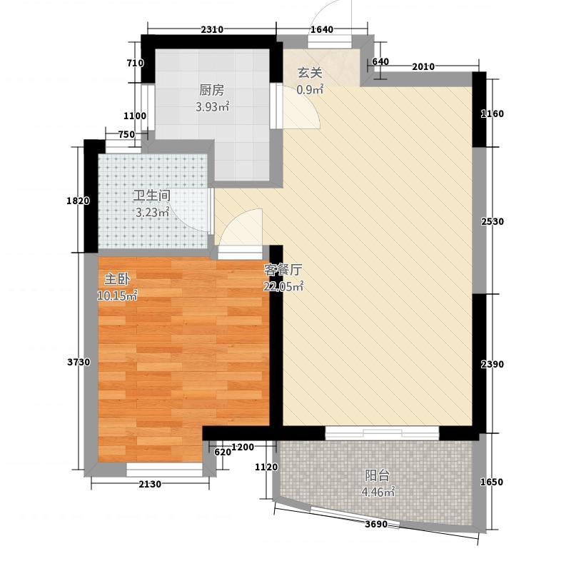 罗曼帝克5156.20㎡G5户型1室2厅1卫1厨