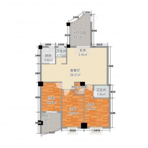 新城海世界3室1厅2卫1厨1131.00㎡户型图