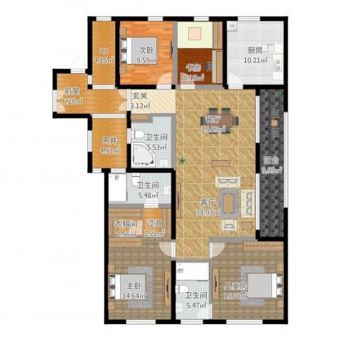 前程藏珑4室1厅3卫1厨205.00㎡户型图