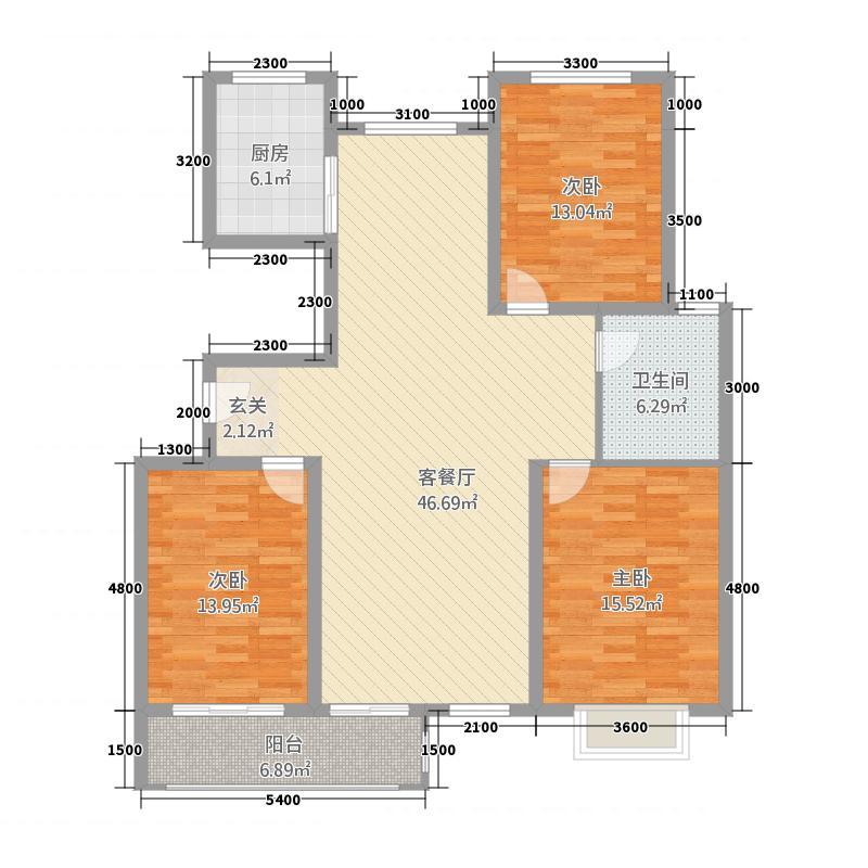 固原东海太阳城214145.20㎡2014518215020824iz户型3室2厅1卫1厨