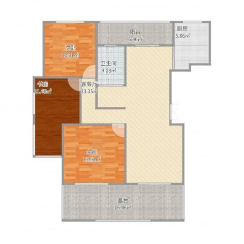 和景府23室1厅1卫1厨138.00㎡户型图