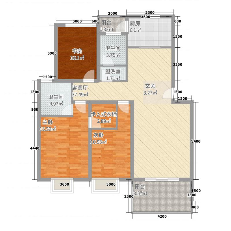 名仕嘉苑7484242432.00㎡Q户型3室2厅2卫1厨