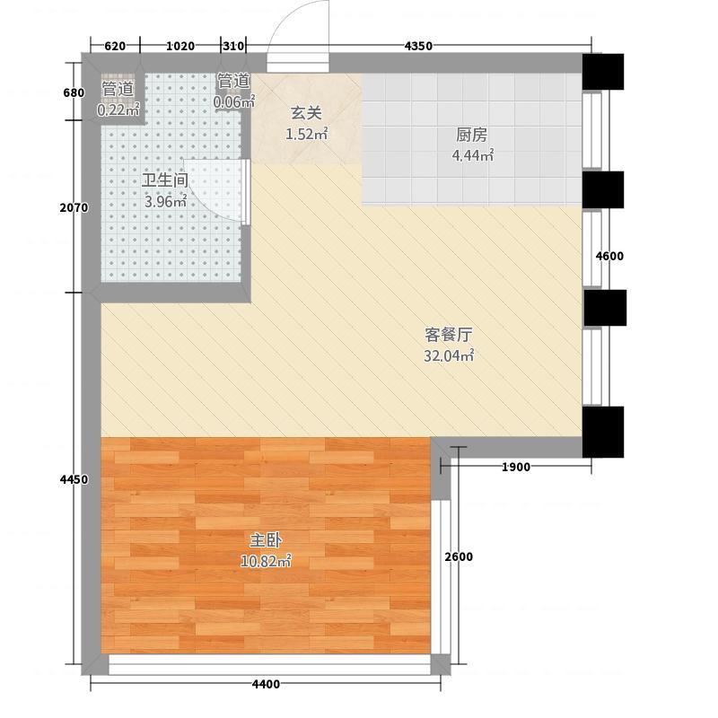 肥城上城国际3.20㎡公寓_3副本户型