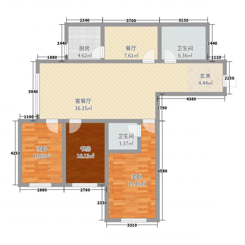 龙达传城21512.20㎡QQ图片户型3室2厅2卫