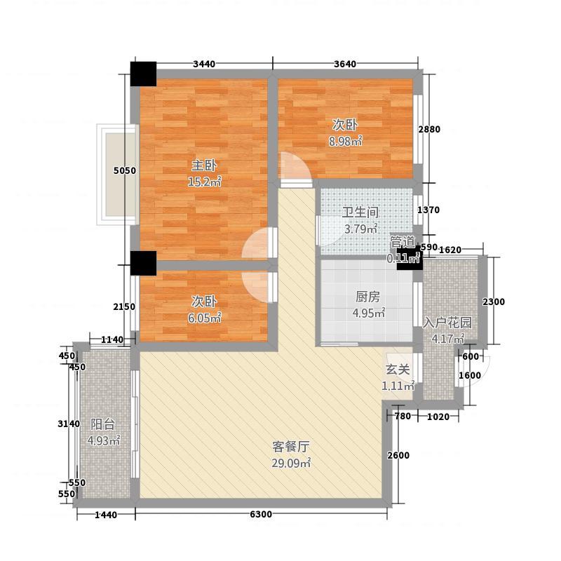 博士後328.20㎡C户型3室2厅1卫
