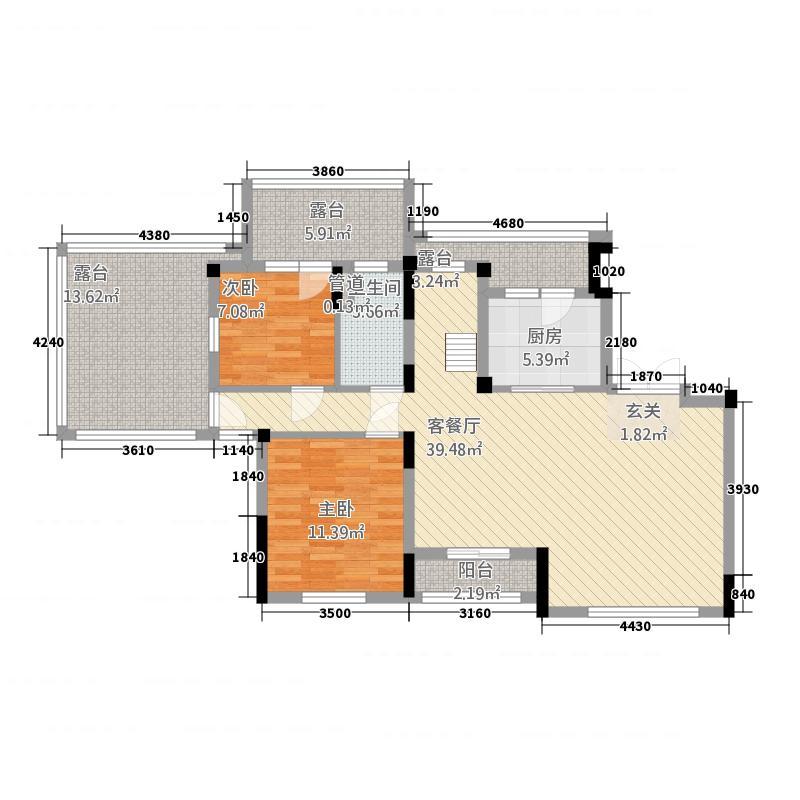 恒大山水城27.20㎡洋房S五楼户型4室2厅2卫1厨