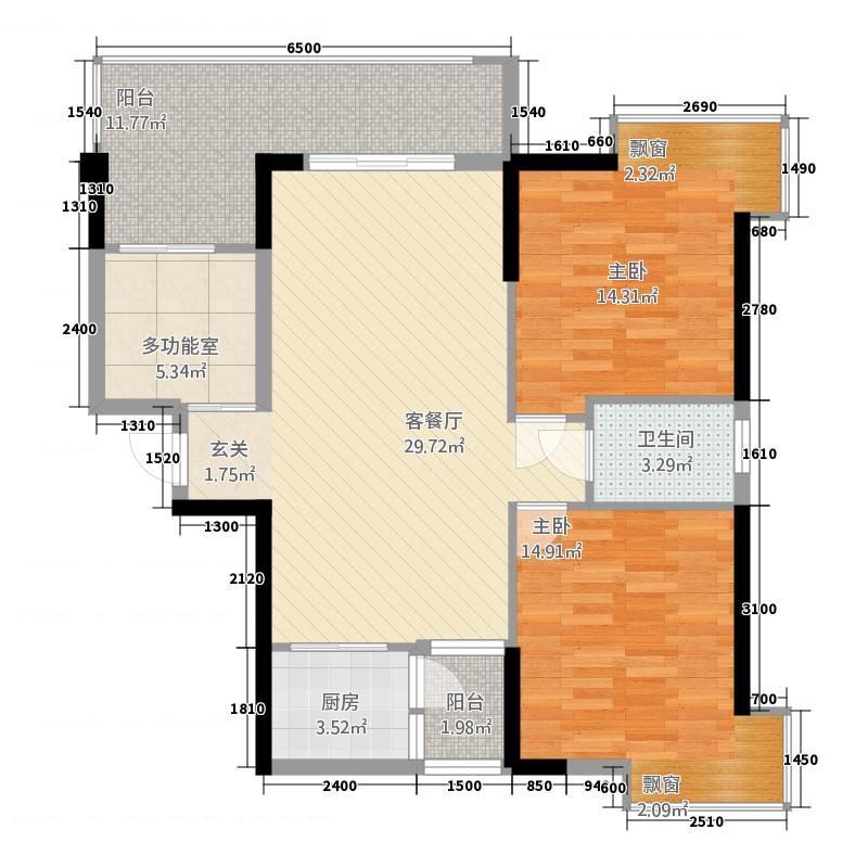 腾龙新华广场3228.22㎡户型2室2厅1卫1厨