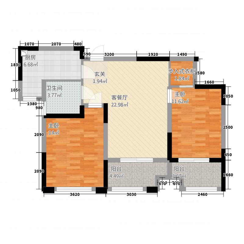 金纱馨苑-06户型2室2厅1卫