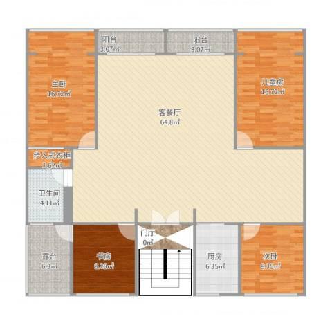 岚皋西路45弄小区4室1厅1卫1厨189.00㎡户型图