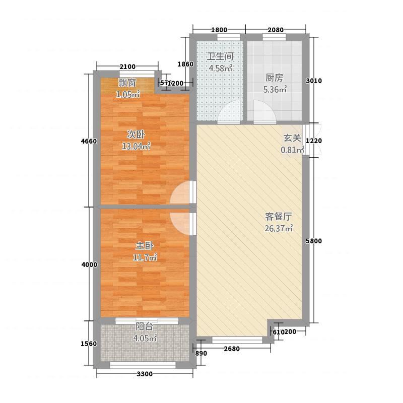 恒海金湾1487.20㎡mmexport户型2室2厅1卫1厨