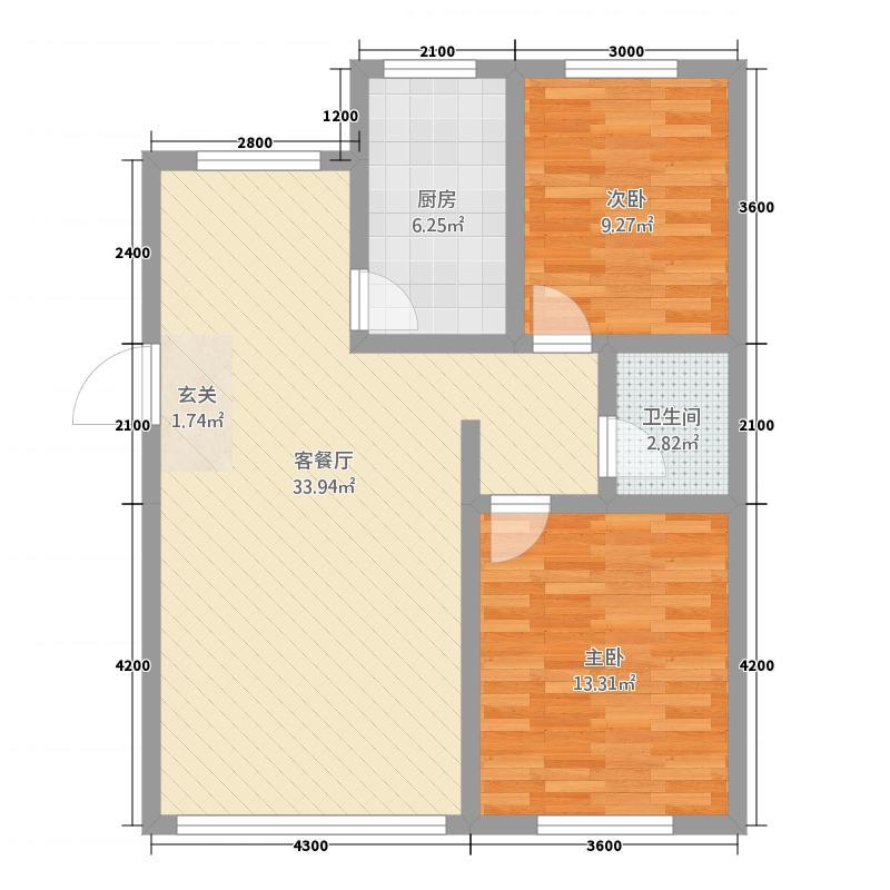 中豪・城市之星337.20㎡k户型3室2厅1卫1厨