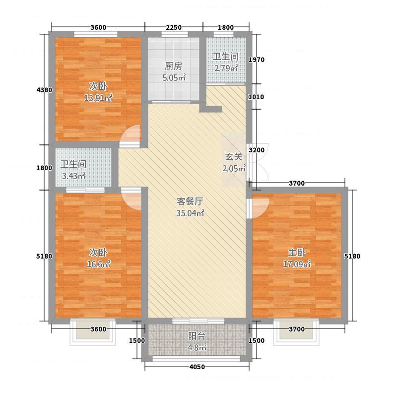苏源花园二期35141.62㎡3、5号楼OP户型3室2厅2卫1厨