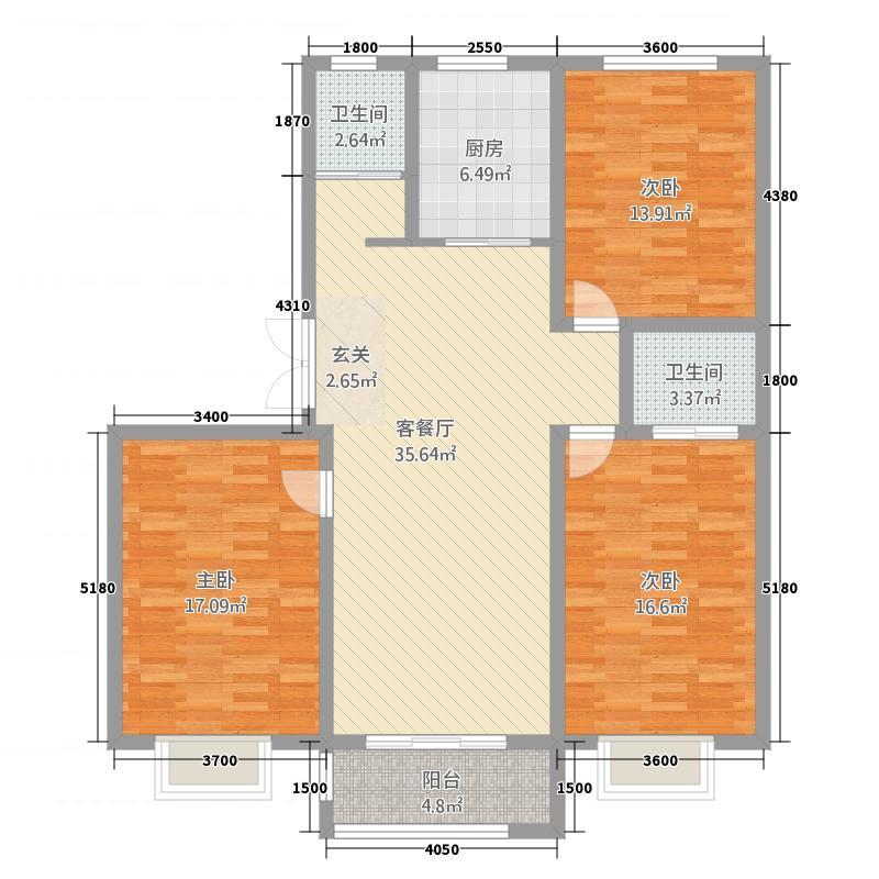 苏源花园二期35143.72㎡3、5号楼RT户型3室2厅2卫1厨