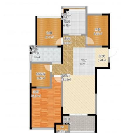 天正理想城3室1厅5卫1厨135.00㎡户型图