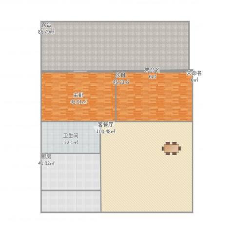 新鹏・四季风景苑2室1厅1卫1厨442.00㎡户型图
