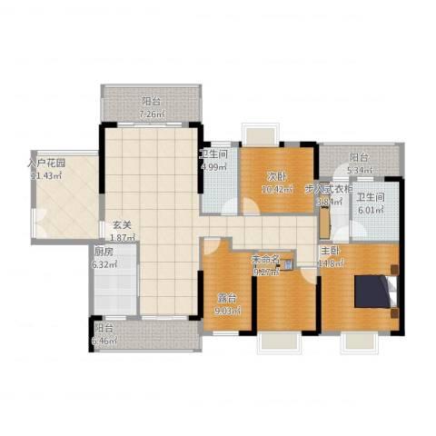 明景・江南世家2室1厅2卫1厨192.00㎡户型图