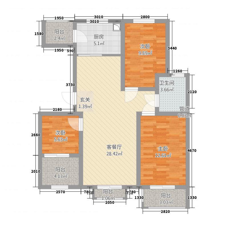 阳光上和23213112.00㎡D2-3-户型3室2厅1卫