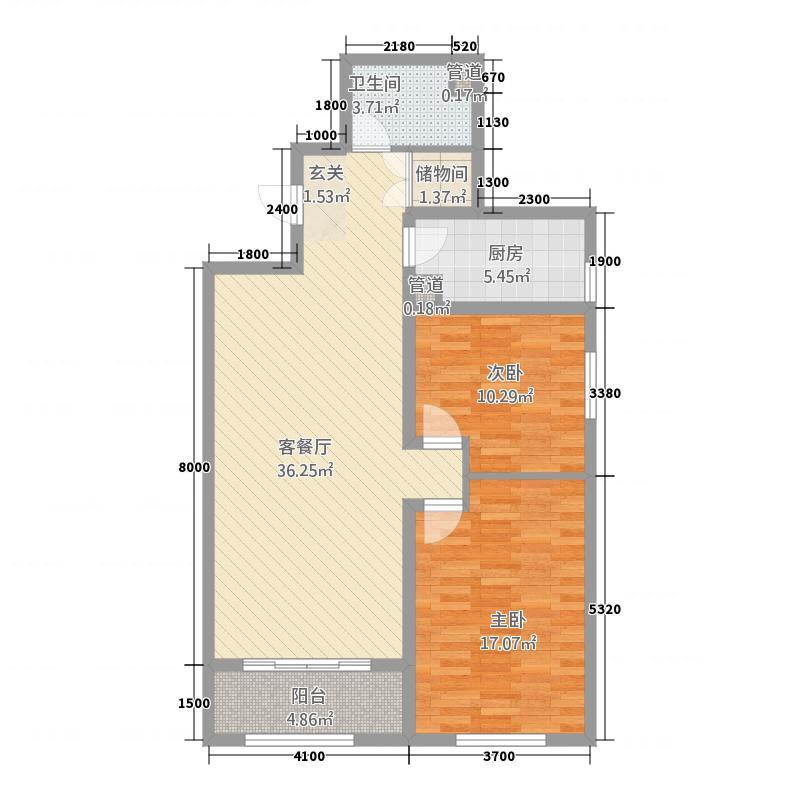 惠城嘉苑4151.31㎡4#1-5户型2室2厅1卫1厨