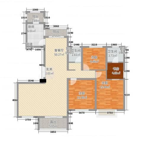 中星湖滨城凡尔赛九郡4室1厅2卫1厨166.00㎡户型图