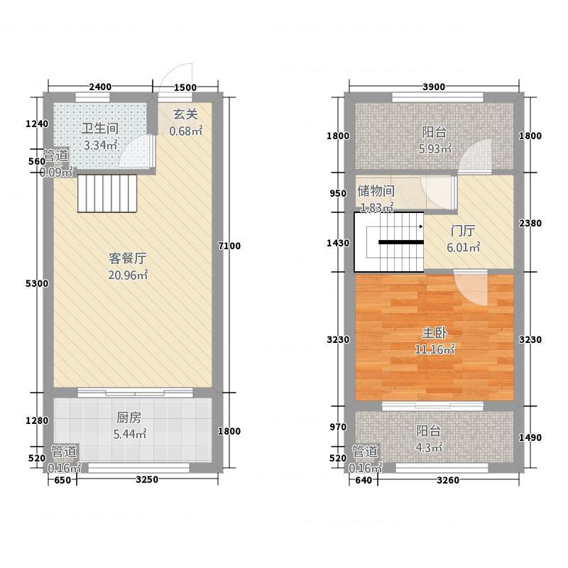 维也纳森林4434.71㎡4#楼A4户型2室