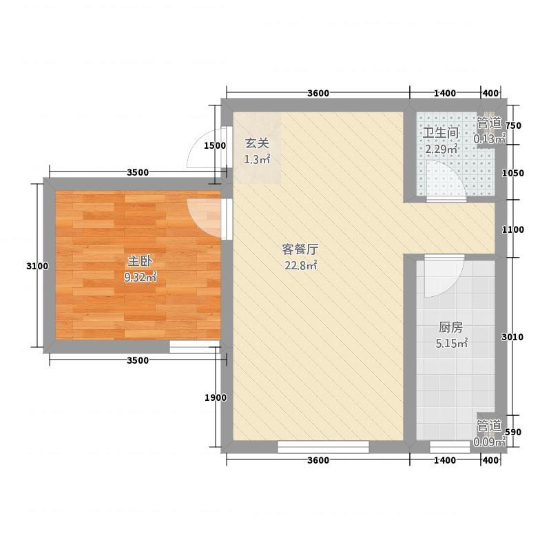 惠城嘉苑41656.33㎡4#1-6户型1室2厅1卫1厨