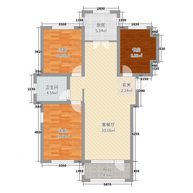 四季花园11111.20㎡10#11#T3居户型3室2厅2卫1厨