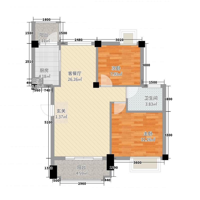 恒宁・阳光新城75.20㎡2-2-1-1-75户型