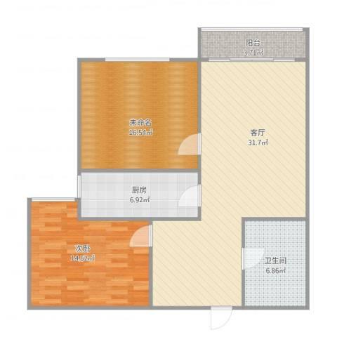 诗景颂苑1室1厅1卫1厨107.00㎡户型图