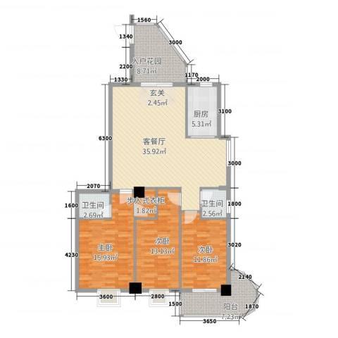 新城海世界3室1厅2卫1厨1132.00㎡户型图