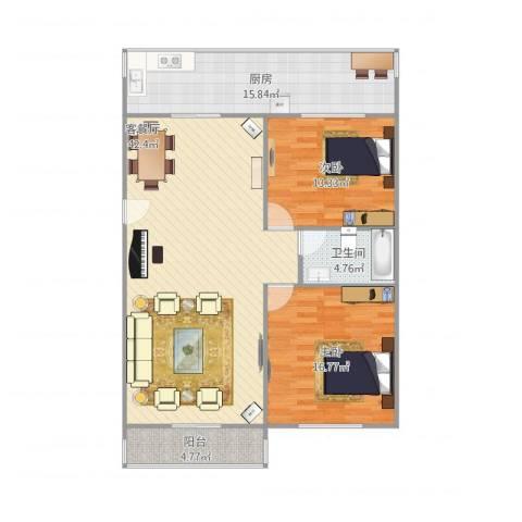 孔村小区13号3单元5012室1厅1卫1厨130.00㎡户型图