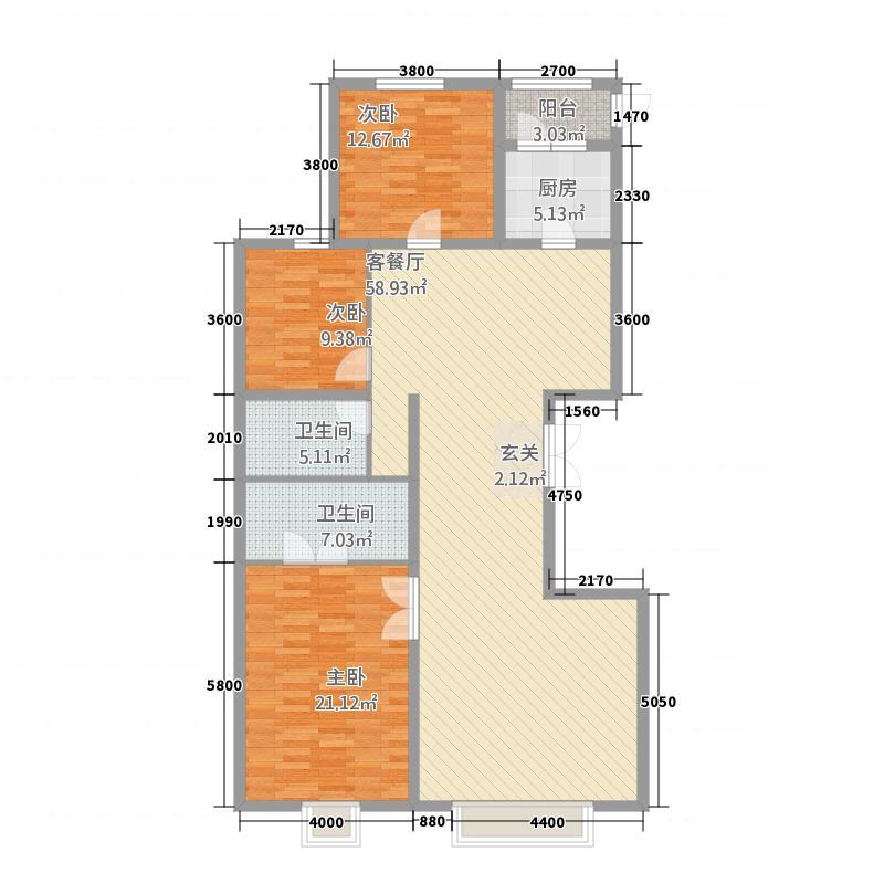维多利亚广场户型3室2厅2卫