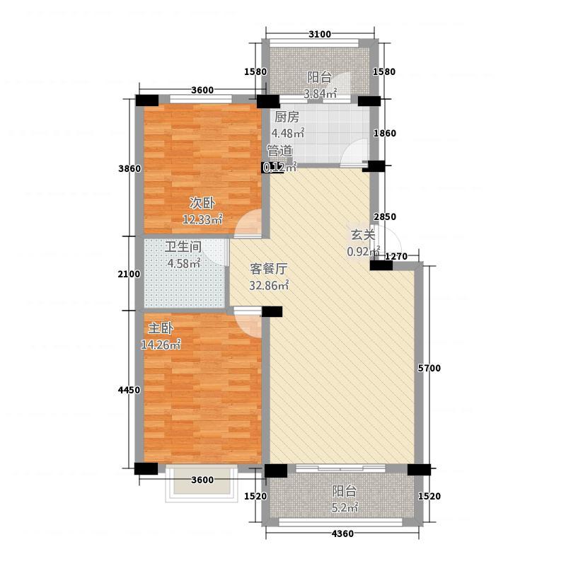 塞维利亚622.20㎡户型2室2厅1卫1厨