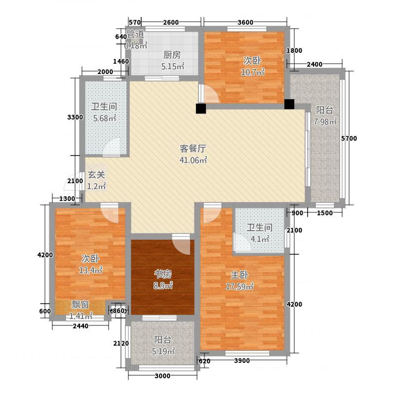 富圣豪庭14.42㎡户型4室2厅2卫1厨