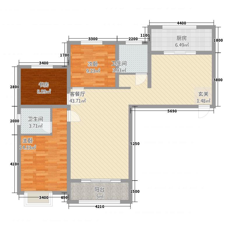 广大左岸尚景5138.20㎡户型3室2厅2卫