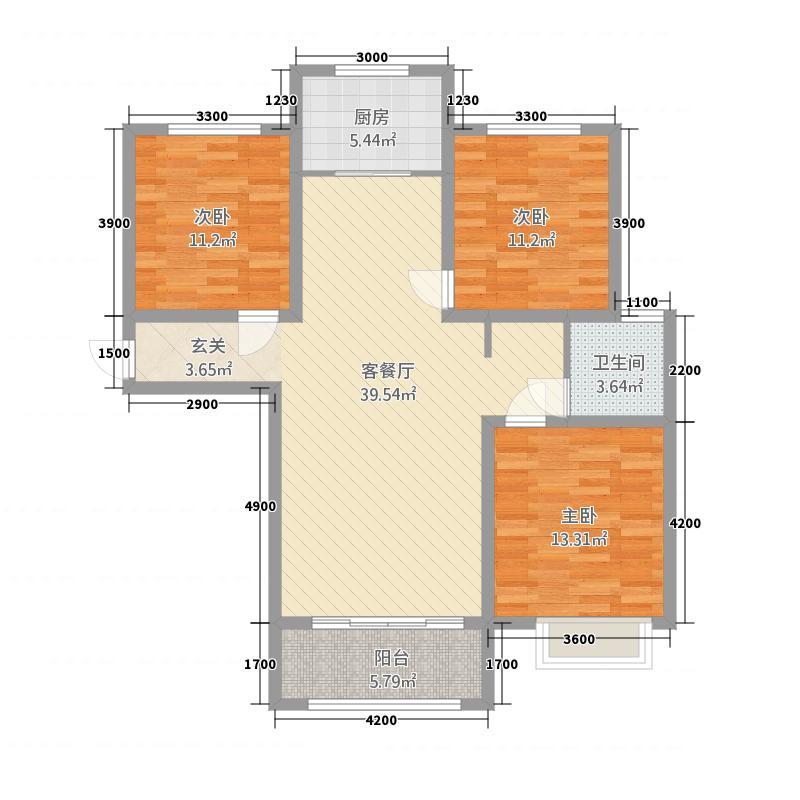 广大左岸尚景3124.20㎡户型3室2厅1卫