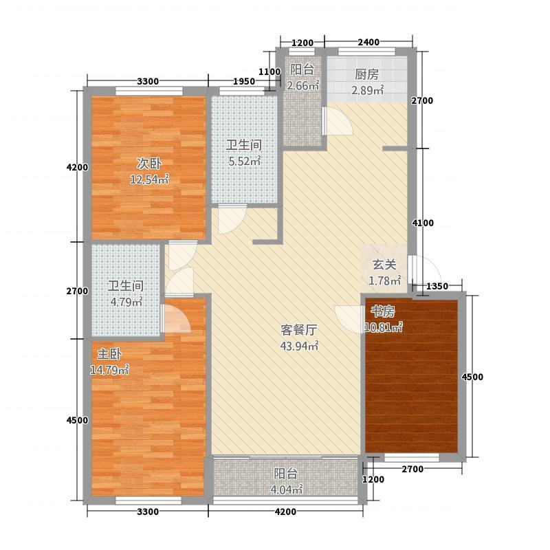 大象文化城512.20㎡户型3室1厅2卫