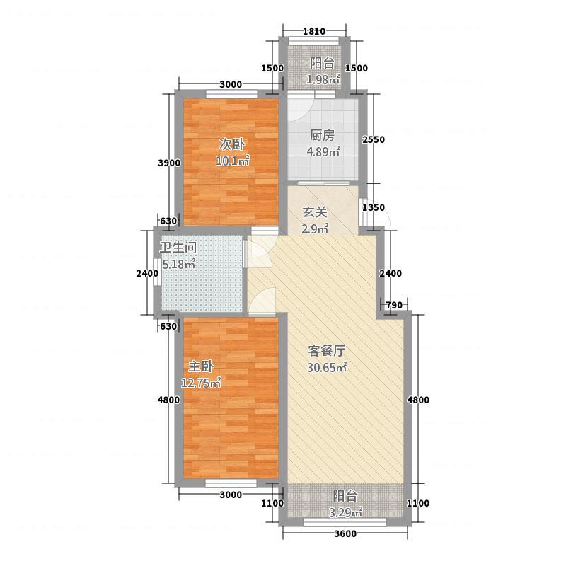 兴安盟锦绣花园13683.83㎡0136EADBB3C40144DB户型2室2厅1卫