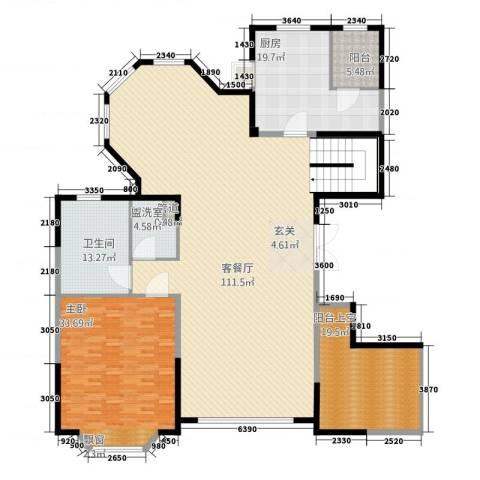 浦江公馆1室2厅1卫1厨286.00㎡户型图