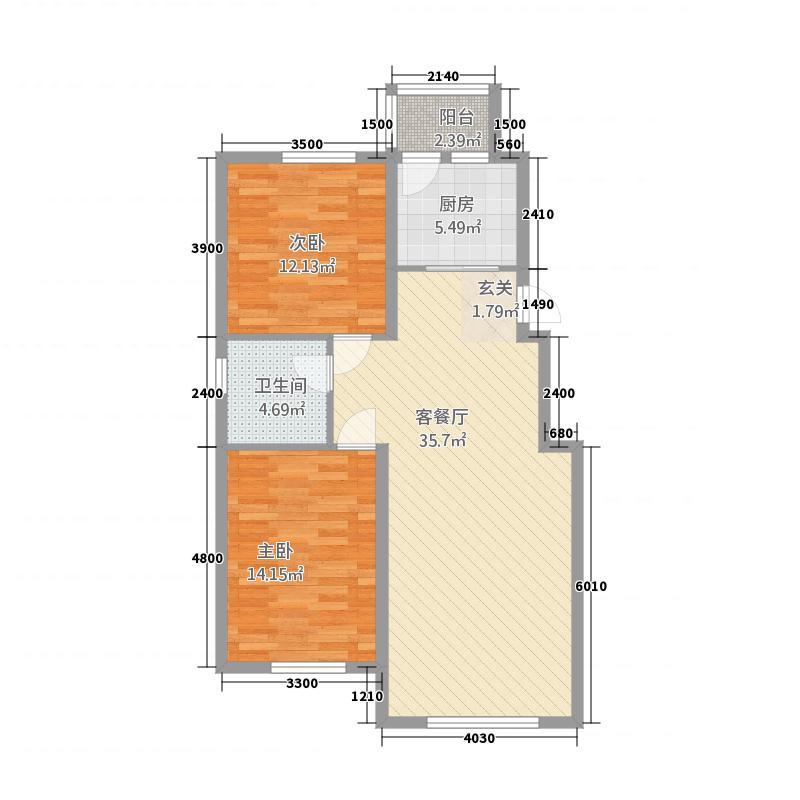 兴安盟锦绣花园4738.62㎡47380BC0C480B51853E80FCBB96C929D户型2室2厅1卫