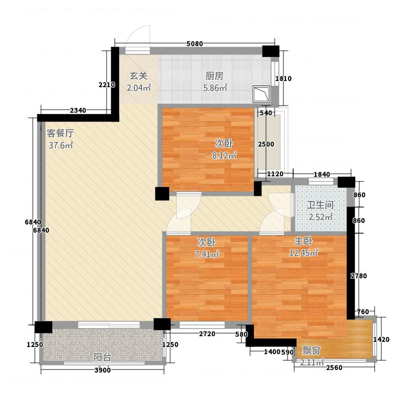 腾龙新华广场8322.35㎡户型3室2厅1卫1厨