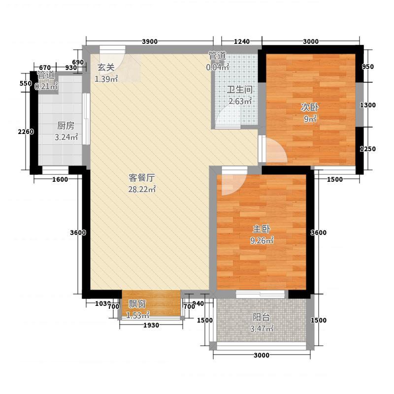 东方红五号街坊221.20㎡2-2中户户型3室2厅1卫1厨