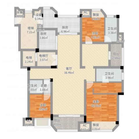保利紫晶山3室1厅3卫2厨168.00㎡户型图