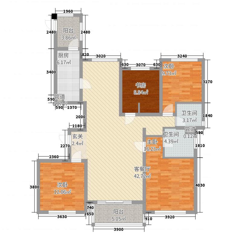 华源上海城三期161.00㎡File0970户型4室2厅2卫1厨