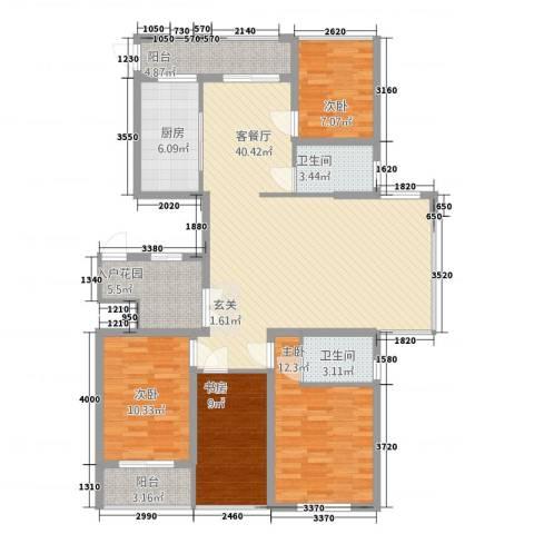 浙建・太和丽都三期4室1厅2卫1厨120.00㎡户型图