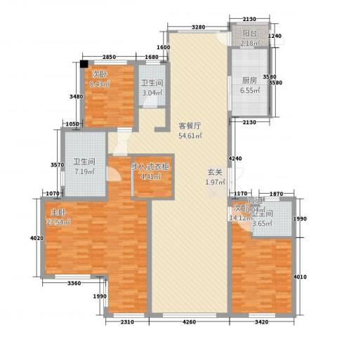 浙建・太和丽都三期3室1厅3卫1厨147.82㎡户型图