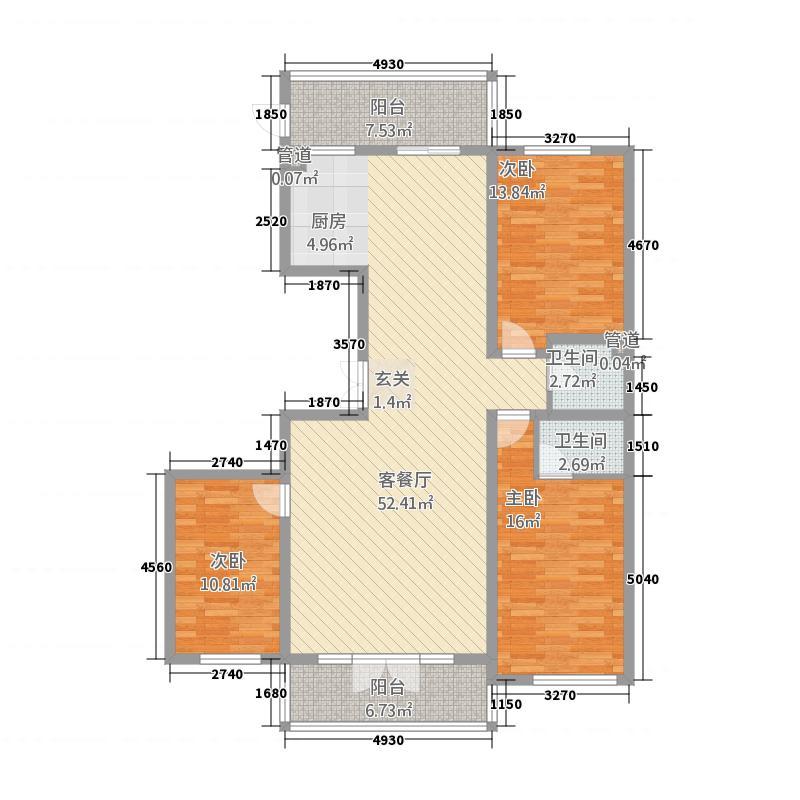 公安小区316.12㎡户型3室2厅2卫1厨