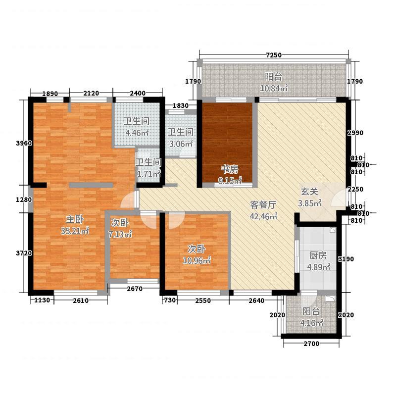 海峡国际湾区34136.72㎡3栋4栋1、3户型4室2厅2卫