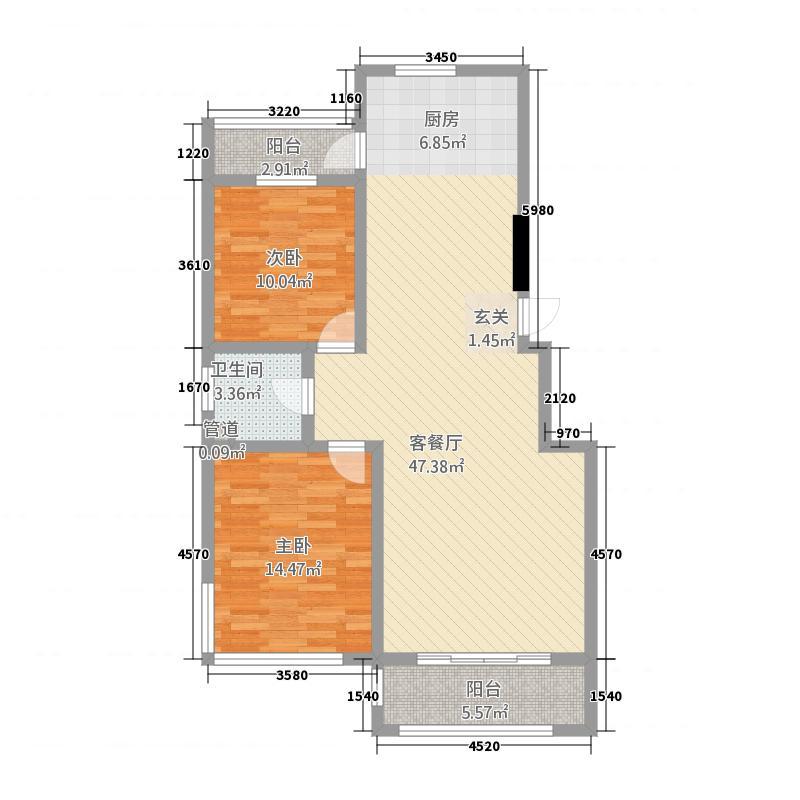 龙域嘉苑2115.43㎡户型2室2厅1卫1厨