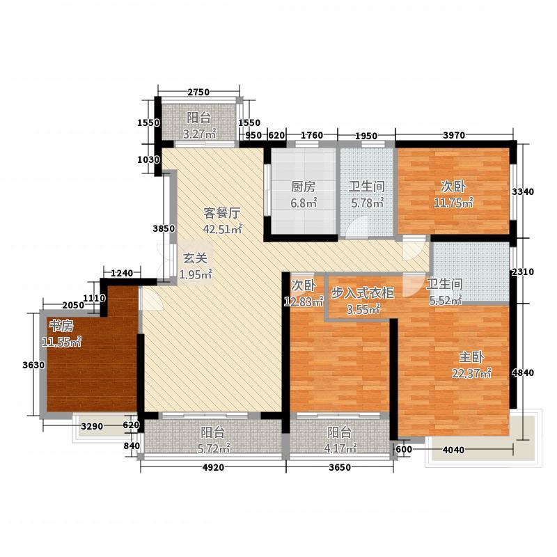 汇高・百悦府22188.20㎡C2-2户型4室2厅2卫1厨